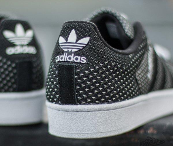 Adidas Superstar toile tissée blanc et noir (5)
