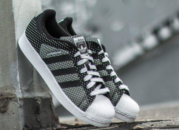 Adidas Superstar toile tissée blanc et noir (6)