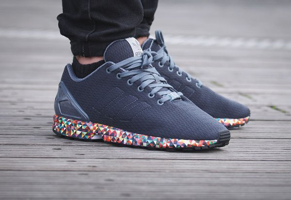 Adidas originals Zx Flux Primeknit Trainers In Grey S76370 in Gray for