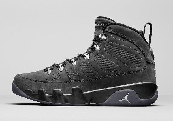Basket Nike Air Jordan 9 Anthracite Black (1)