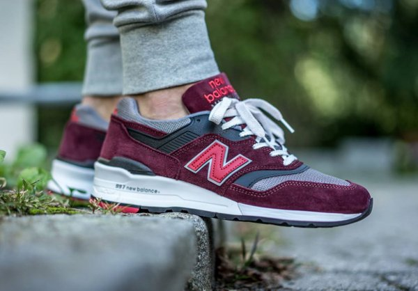 New Balance 997 CRG Burgundy (1)