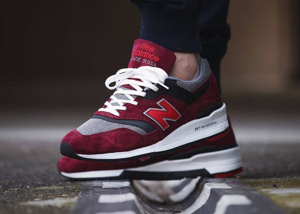 New Balance 997 CRG Burgundy Rockabilly