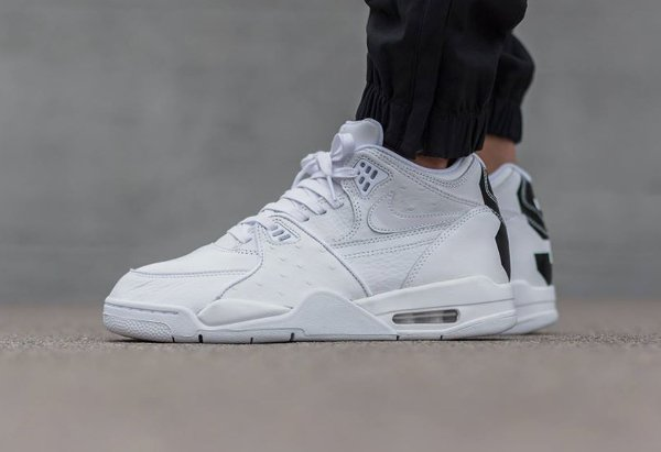 Nike Air Flight 89 Leather Triple White (1)