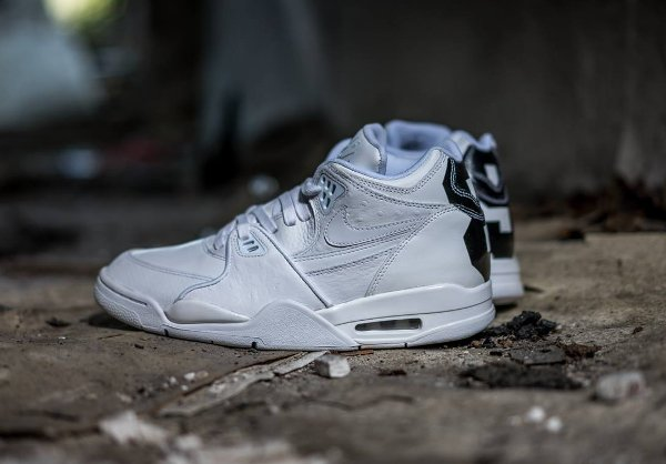 Nike Air Flight 89 Leather Triple White (2)