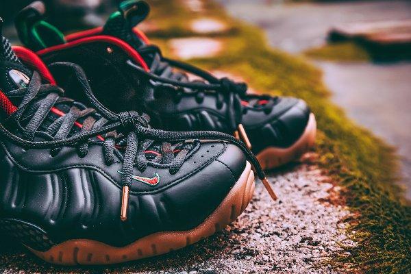 Nike Air Foamposite Pro Black Red Green Metallic Gold (3)