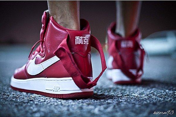 Nike Air Force 1 Nai Ke Gym Red