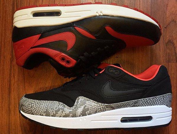 Nike Air Max 1 ID Premium Bred Snakeskin