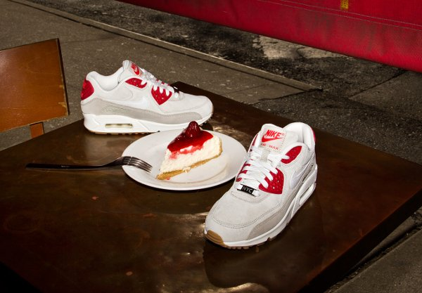 Nike Air Max 90 Light Beige Red White (3)