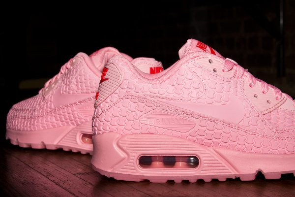 Nike Air Max 90 Pink Space Pink Chilling Red (3)