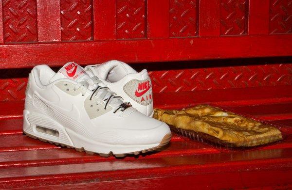 Nike Air Max 90 White Beige Chalk Velvet Brown (3)