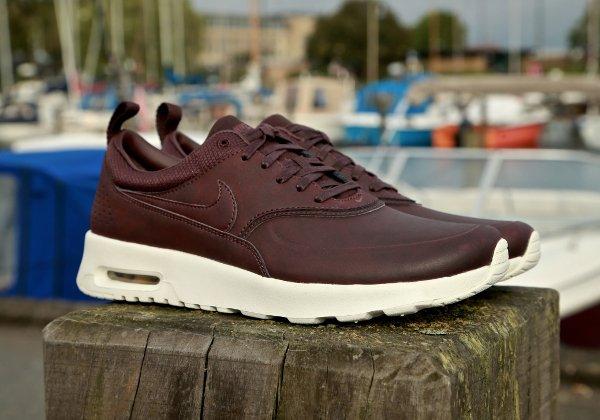Nike Air Max Thea Premium cuir acajou (4)