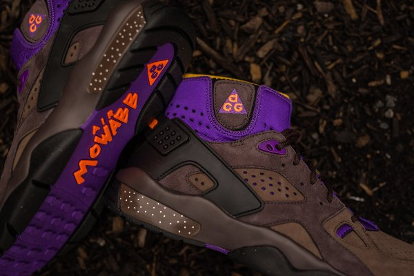 Nike Air Mowabb OG marron orange violet (4)