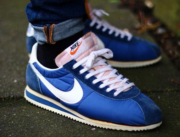 san francisco d4157 c099c Nike Cortez Nylon Vintage Bleu.