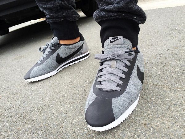 Nike Cortez Tech Fleece Tumbled Grey - Mykeejazz22