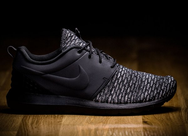Nike Roshe Flyknit NM PRM Black Dark Grey (1)