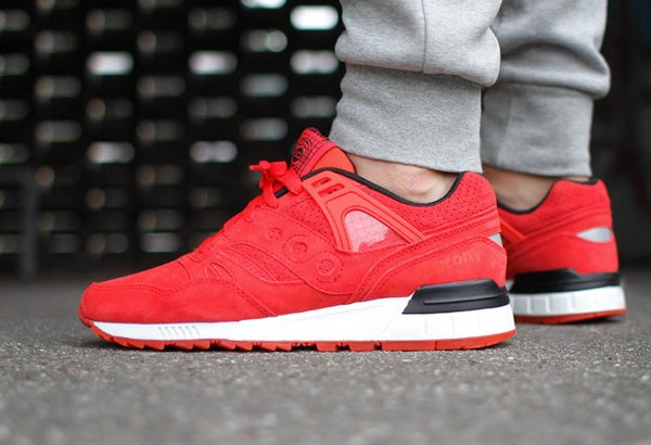 Saucony Grid SD 'No Chill' Red (2)
