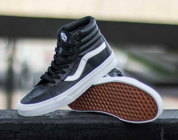 Vans Sk8 Hi Reissue Premium Leather Black | Sneakers-actus