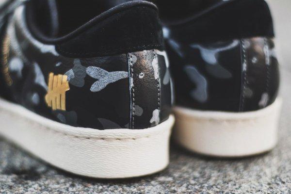 Adidas Consortium Superstar 80V Camo x Undefeated x Bape Black Cinder Gold (5)