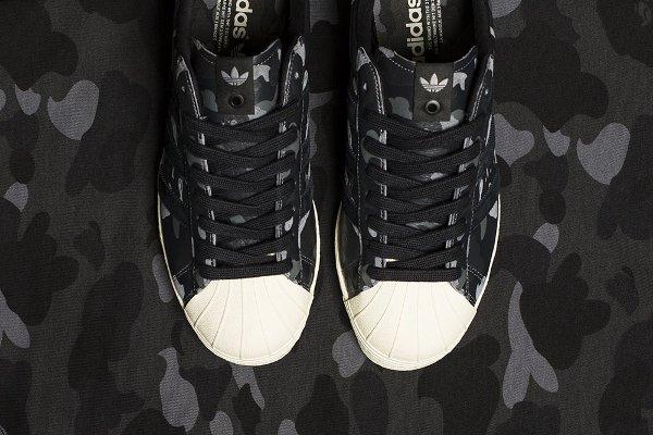 Adidas Consortium Superstar 80V Camo x Undefeated x Bape Black Cinder Gold (8)