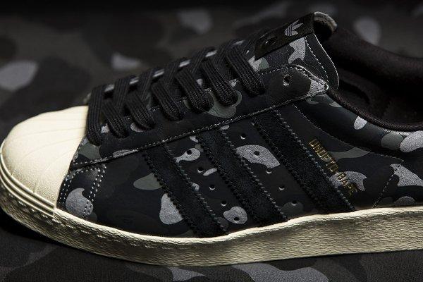 Adidas Consortium Superstar 80V Camo x Undefeated x Bape Black Cinder Gold (9)
