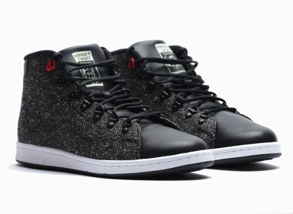 adidas stan smith winter mid core nero