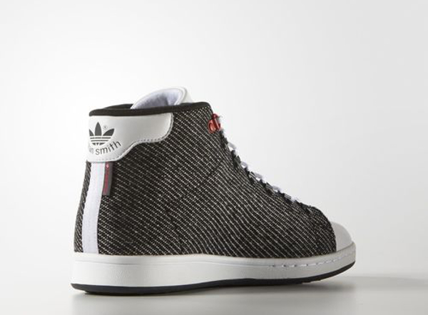 Adidas Stan Smith mi-montante Tweed blanche et grise (3)