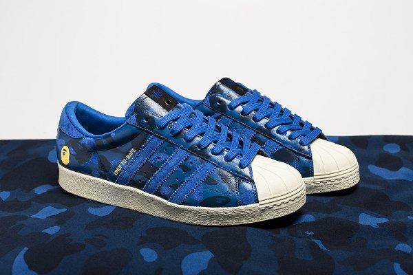 Adidas Superstar 80V 'Camo' x UNDFTD x Bape