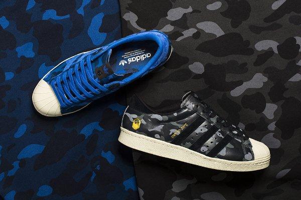 Adidas Superstar 80V Camo x UNDFTD x Bape