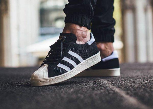 Adidas Superstar 80's Primeknit 'White & Black'