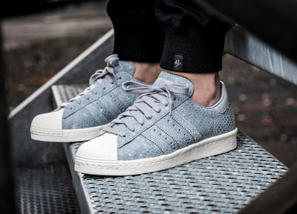 Adidas Superstar 80's W Suede Grey Snake (1)