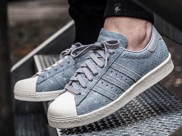 Adidas Superstar 80's W Suede Grey Snake (2)