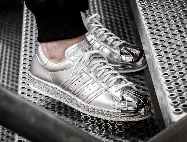 Adidas Superstar 80's argent métallique ...