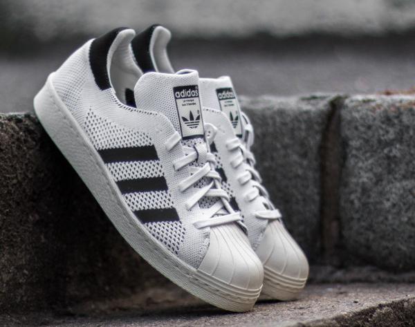 Adidas Superstar 80's tissée blanche (1)