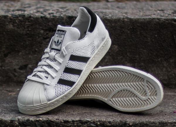 Adidas Superstar 80's tissée blanche (2)