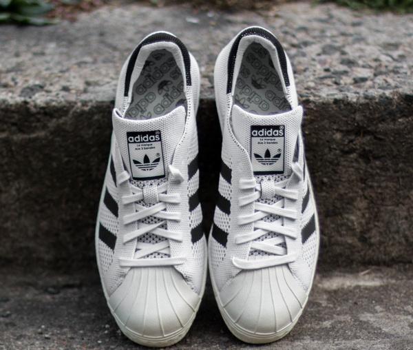 Adidas Superstar 80's tissée blanche (3)