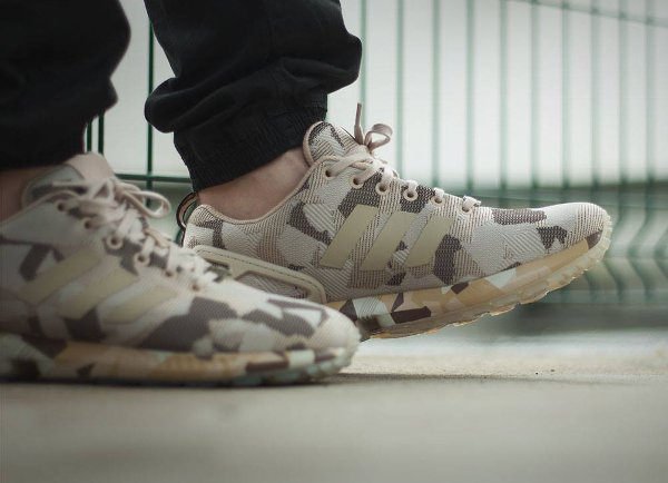 Adidas ZX Flux Urban Camo Brown Hemp (1)