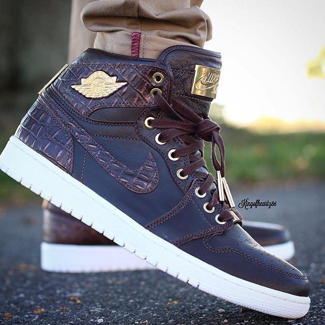 a5fc84810882 Où acheter la Air Jordan 1 Pinnacle Croc Brown Gold