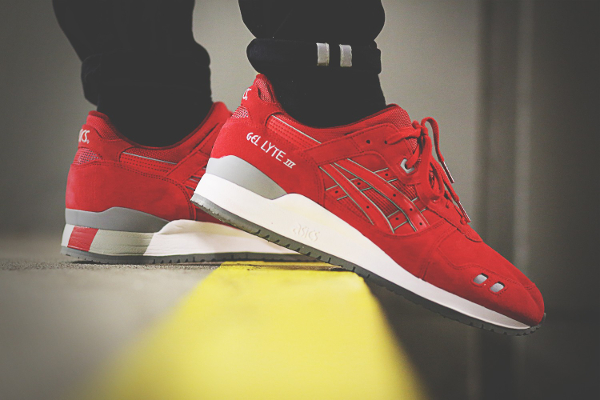 Asics Gel Lyte 3 Red Suede Puddle Pack (1)