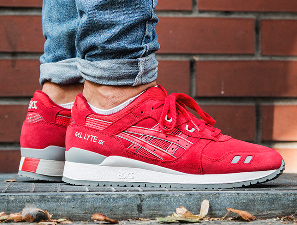 Asics Gel Lyte 3 Red Suede Puddle Pack (2)