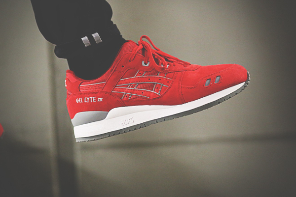 Asics Gel Lyte 3 Red Suede Puddle Pack (3)