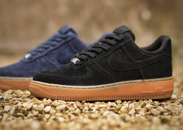new arrivals c5531 330bc Nike Air Force 1  07 Low Suede Black Gum ...