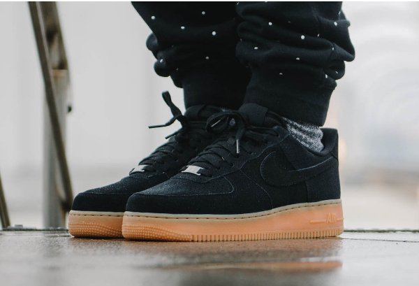 nike air force 1 noir semelle marron