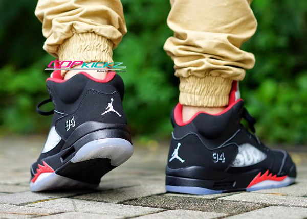 Nike Air Jordan 5 Sup Black Red (2)