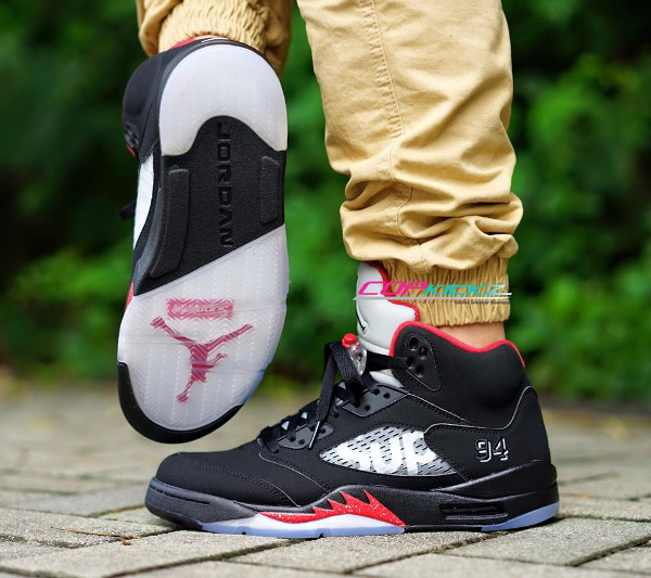 Nike Air Jordan 5 Sup Black Red (3)