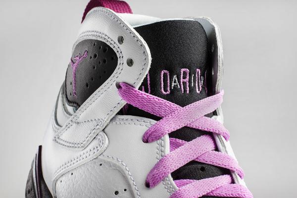Nike Air Jordan 7 White Fuchsia Mulberry (femme) (3)