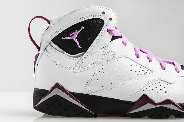 Nike Air Jordan 7 White Fuchsia Mulberry (femme) (4)