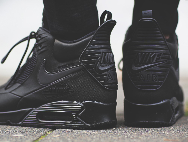 Nike Air Max 90 Sneakerboot WNTR noire (2)