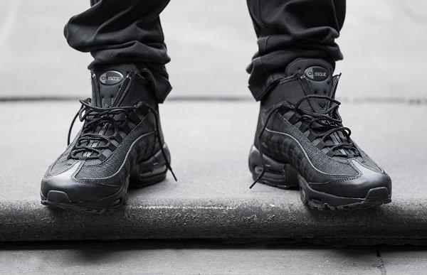 Nike Air Max 95 Mid Sneakerboot Black (3)