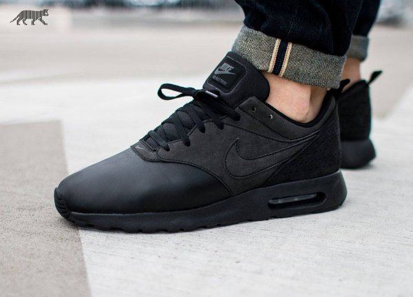 Nike Air Max Tavas Leather Triple Black (2)