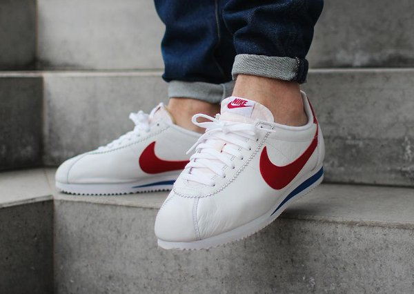 new product 68182 2987a nike cortez forrest gump,image chaussure nike classic cortez leather og  forrest gump white red femme